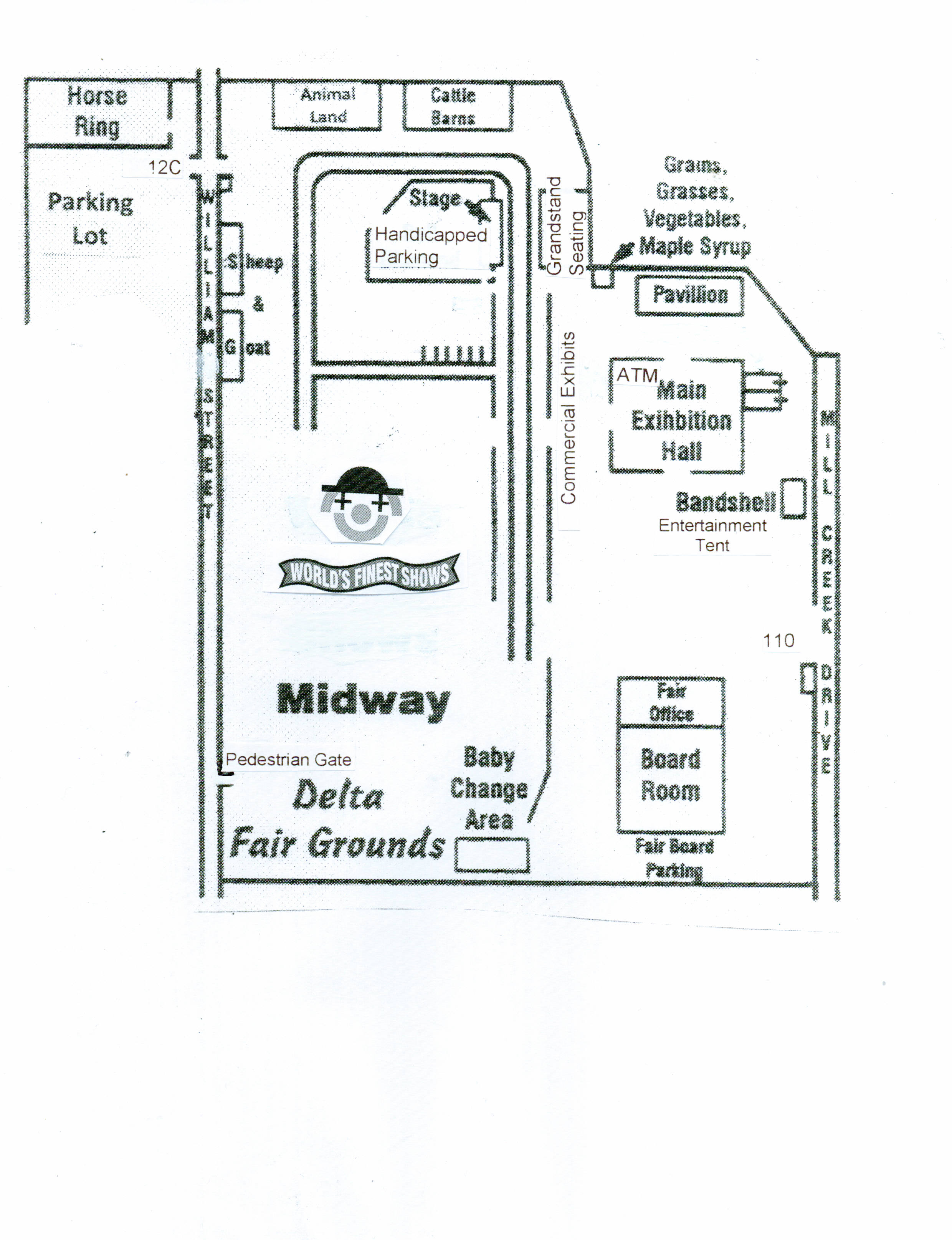 Delta Fair Grounds Map